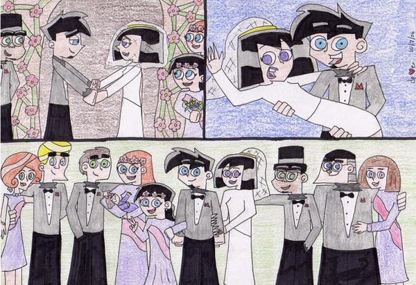 Danny and sam s wedding by danny phantom luver on deviantart