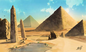 Egypt concept art by Xeraphiks