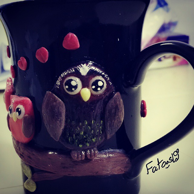 owl black cup by fatooshi