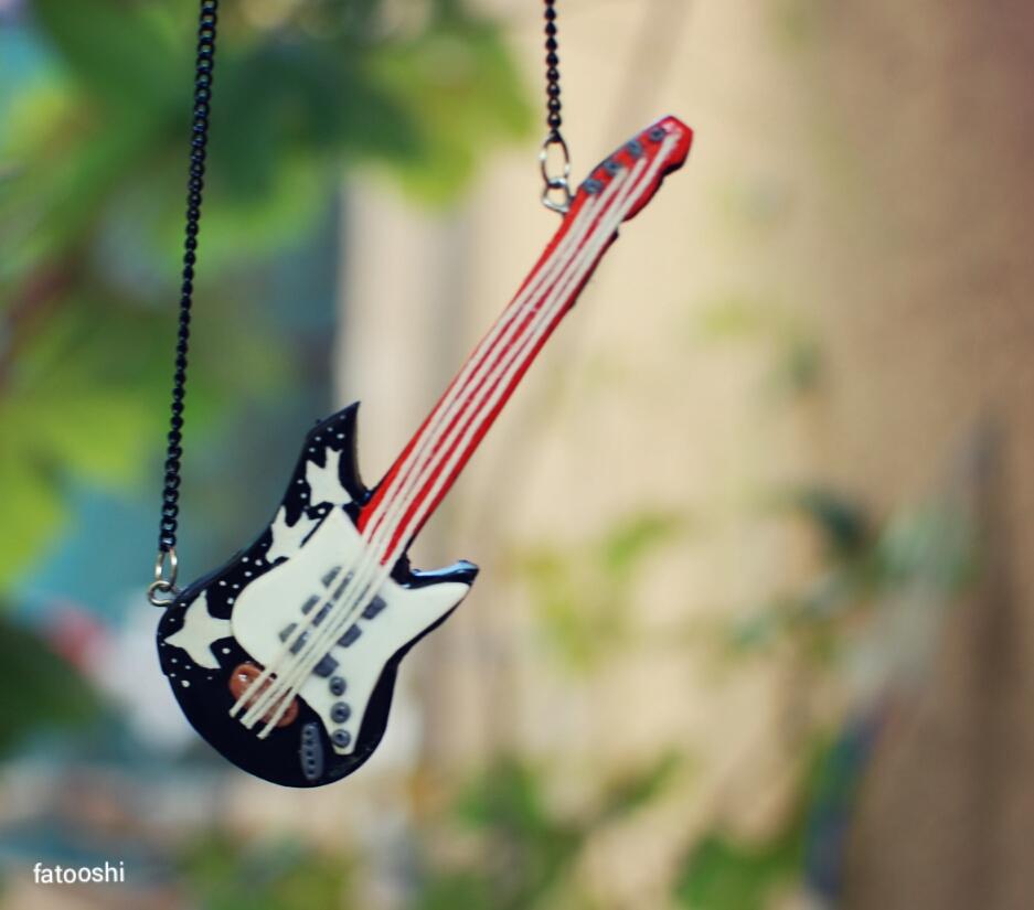 guitar polymer clay handmade by fatooshi
