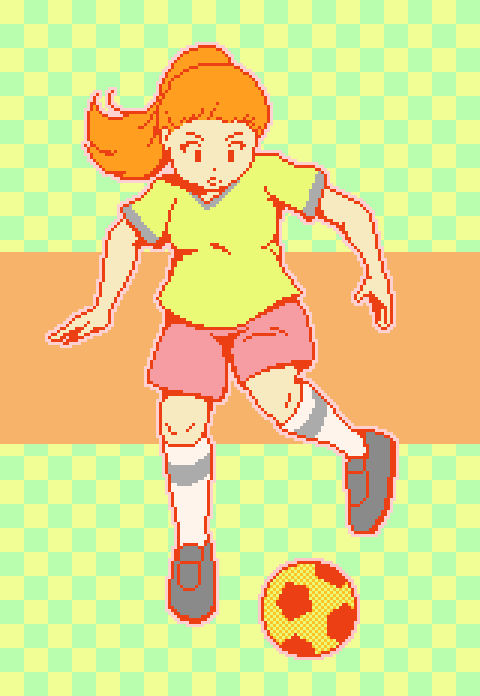Football Player Sports Themed Pixel Art 39 By Cygazzi