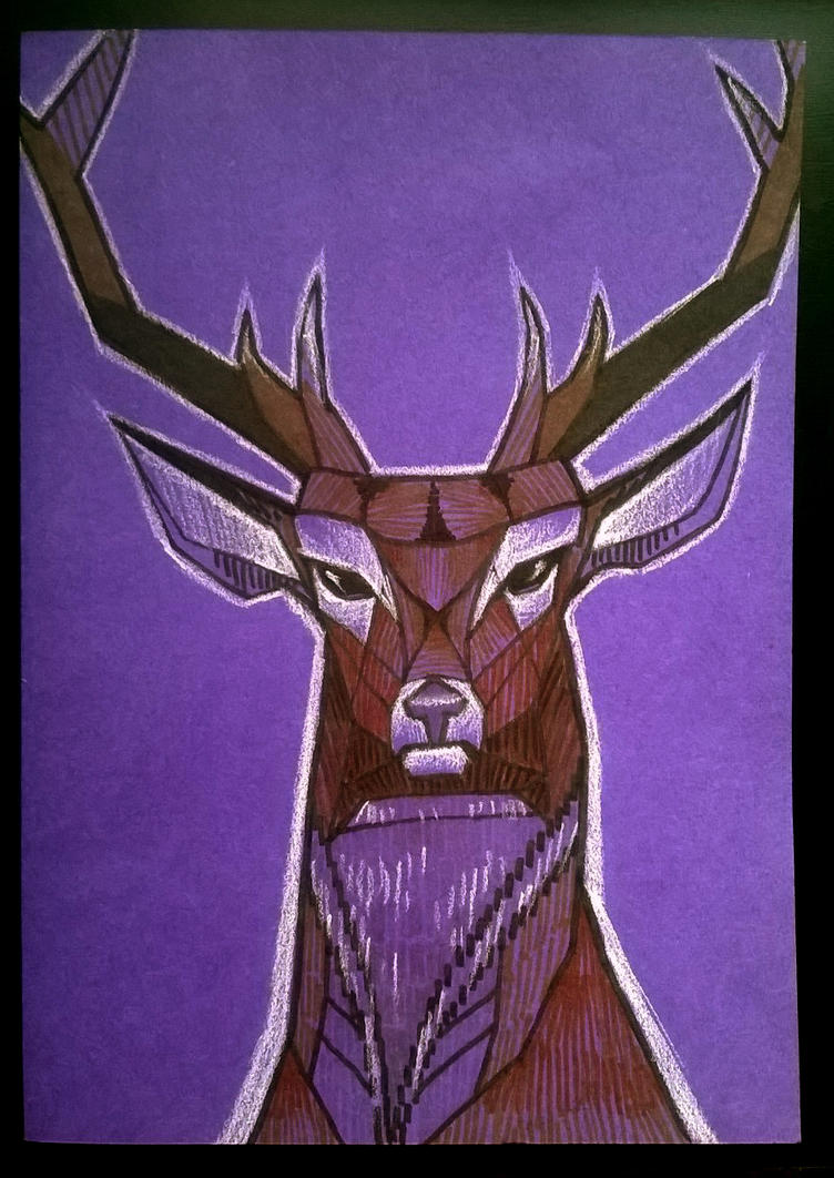 Deer card by lincheana