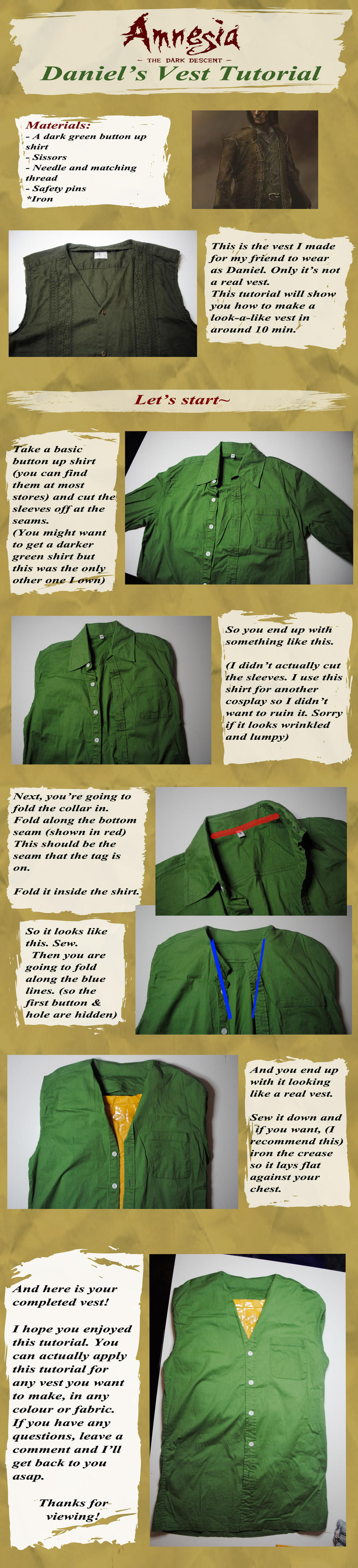 Amnesia: Simple Vest Tutorial by yellow-cake