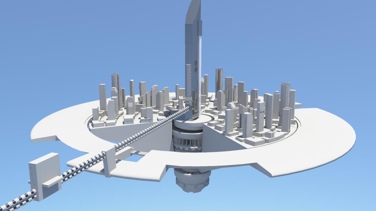floating city WIP by leighbardsley
