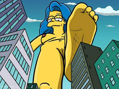 Giantess Marge Simpson by tanner8296