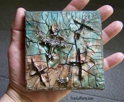 Four Cross Crackle Art