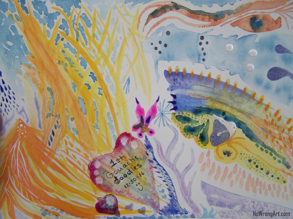 Gouache Doodles by mirroreyes1