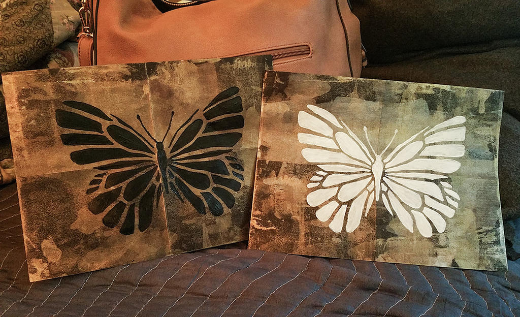 BW Butterflies by mirroreyes1