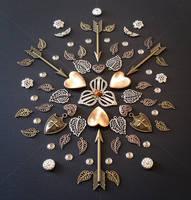 Copper Hearts Freeform Mandala
