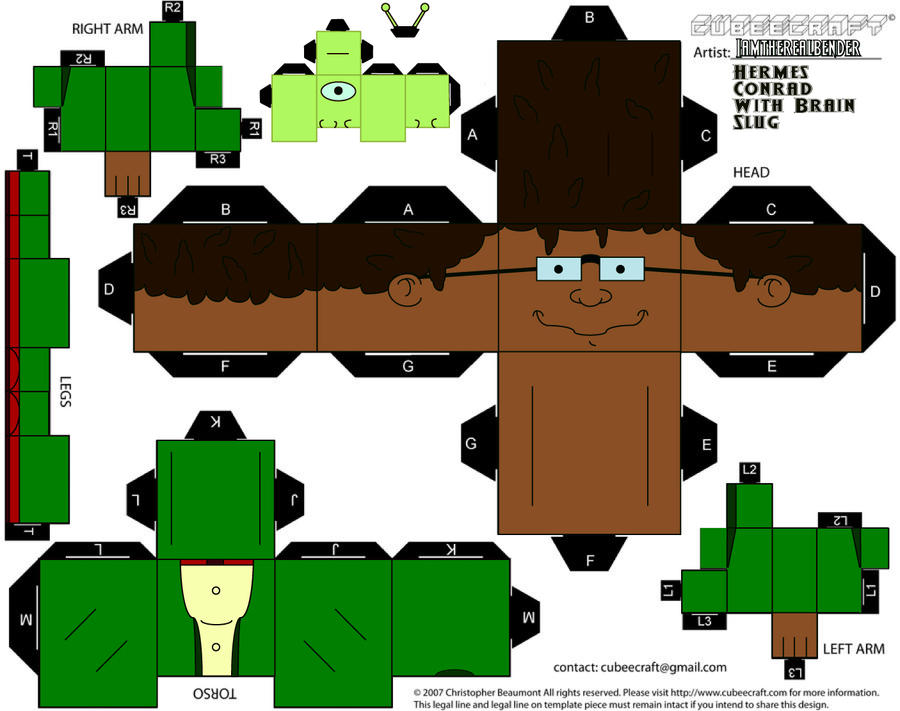 Hermes with Brain Slug Cubee by iamtherealbender