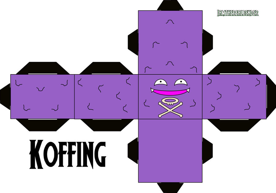 Koffing Cubee by iamtherealbender