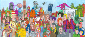 2nd Doctor Who/ Futurama Poster Doctors 3-5 by JayRobArt