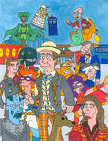 Doctor Who/ Futurama Seventh Doctor (With Color) by JayRobArt