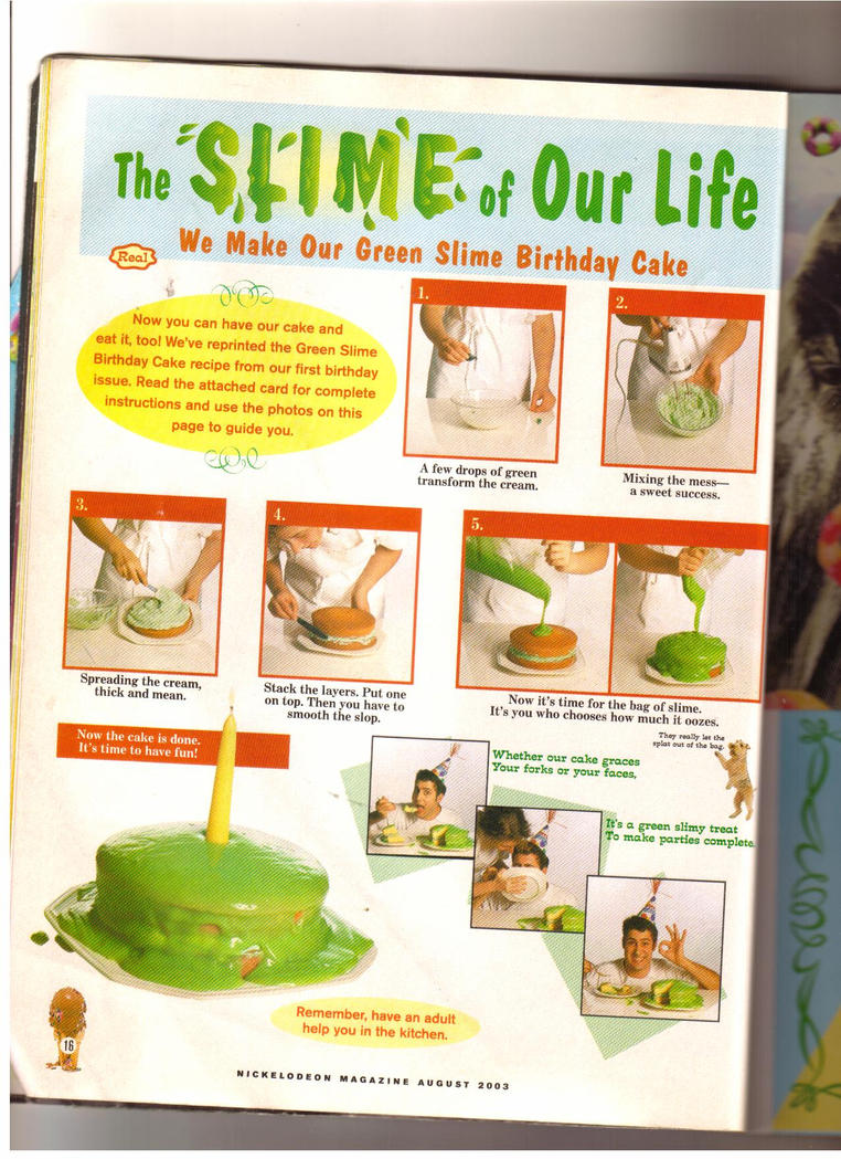 Nickelodeon Slime Cake Recipe2 By Axel16