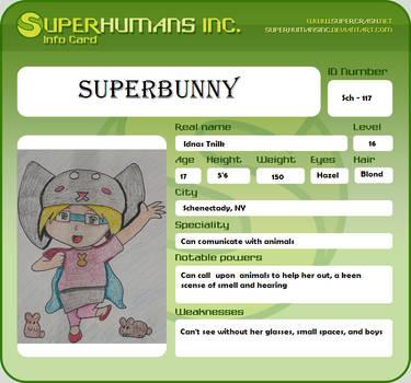 Superbunny ID Card by ShadowDoppleganger