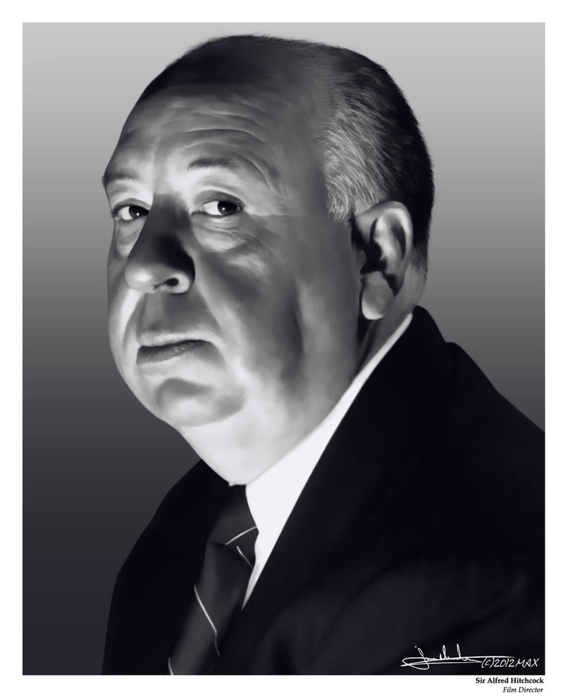 Alfred Hitchcock by MaxHitman