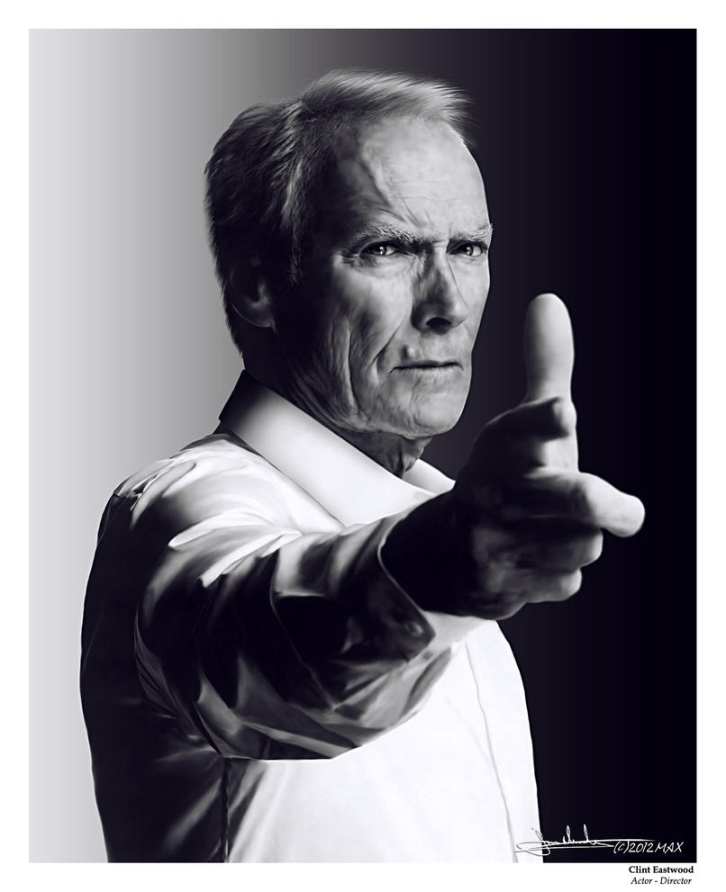 Clint Eastwood by MaxHitman