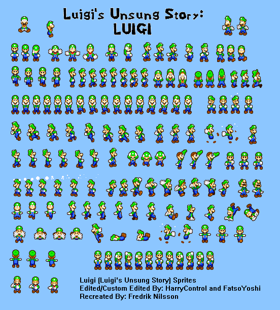 Mlss Luigi Sprites From Lus By Asylusgoji91 On Deviantart