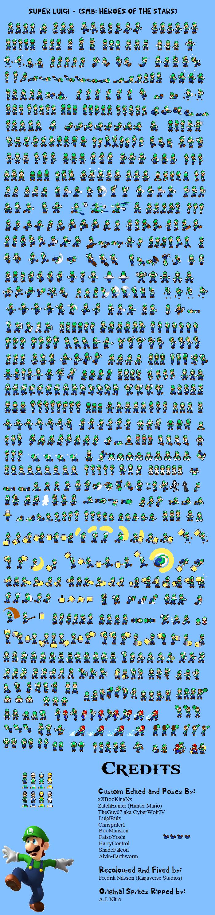 Luigi Sprite Sheet by KingAsylus91 on DeviantArt