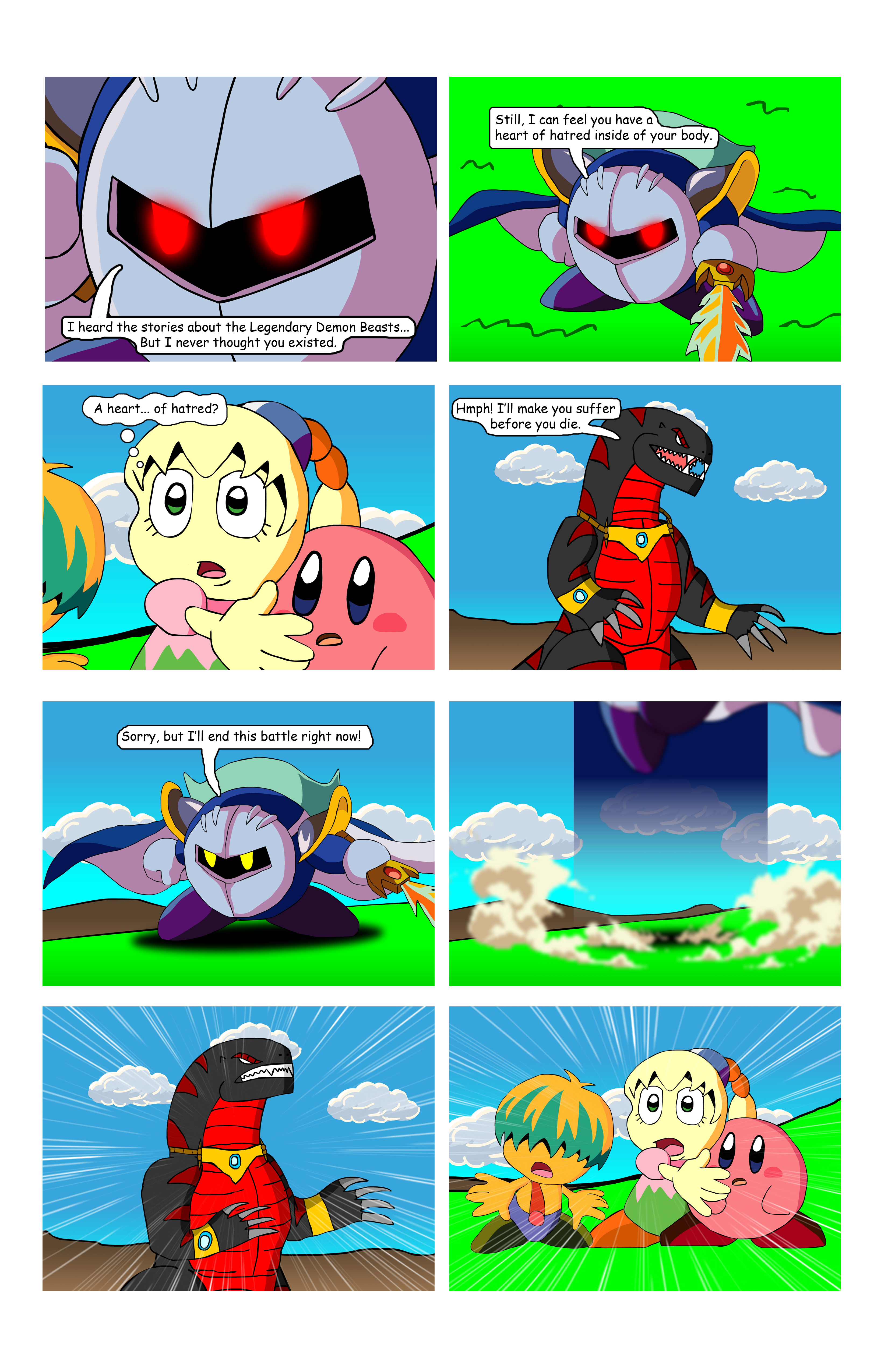 Displaying 20 gt  Images For - Meta Knight And Kirby Comics   Jigglypuff And Meta Knight