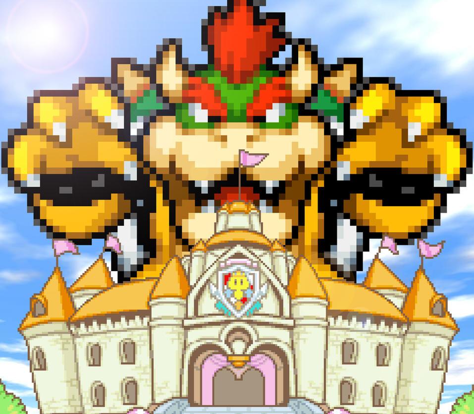 REQUEST - Giant Bowser Attack Peach's Castle by KingAsylus91