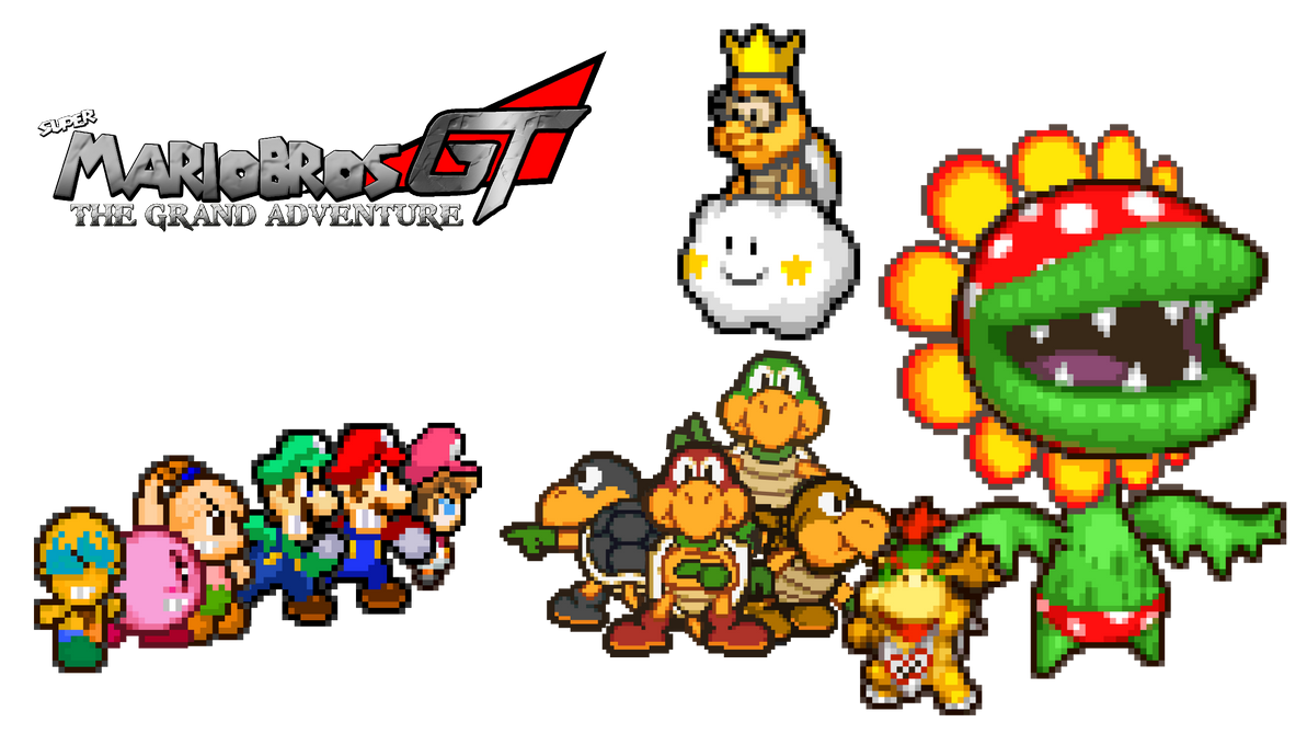 Bowser Jr and his Gang by KingAsylus91