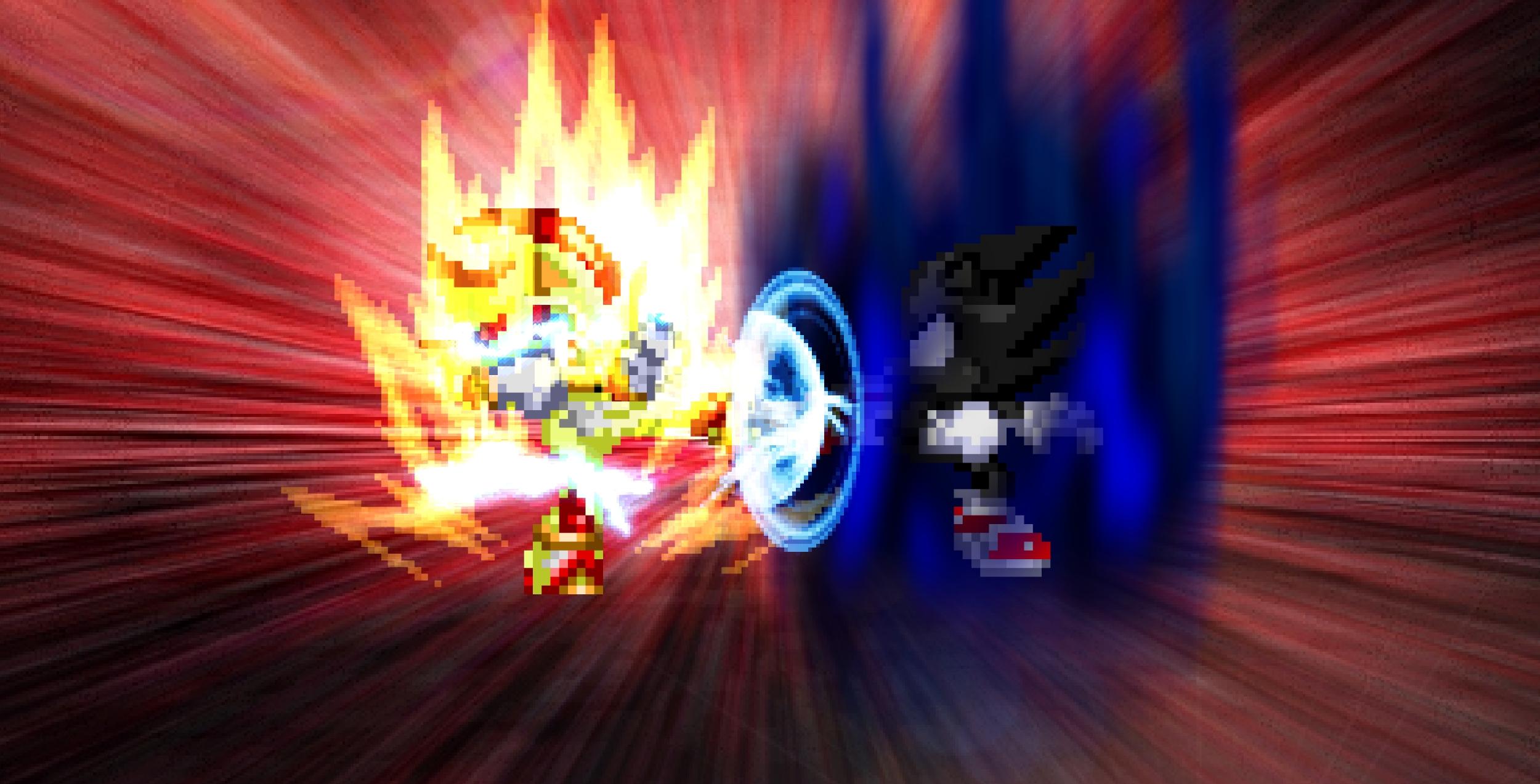 REQUEST - Super Shadow vs. Dark Sonic by HeiseiGoji91 on ...