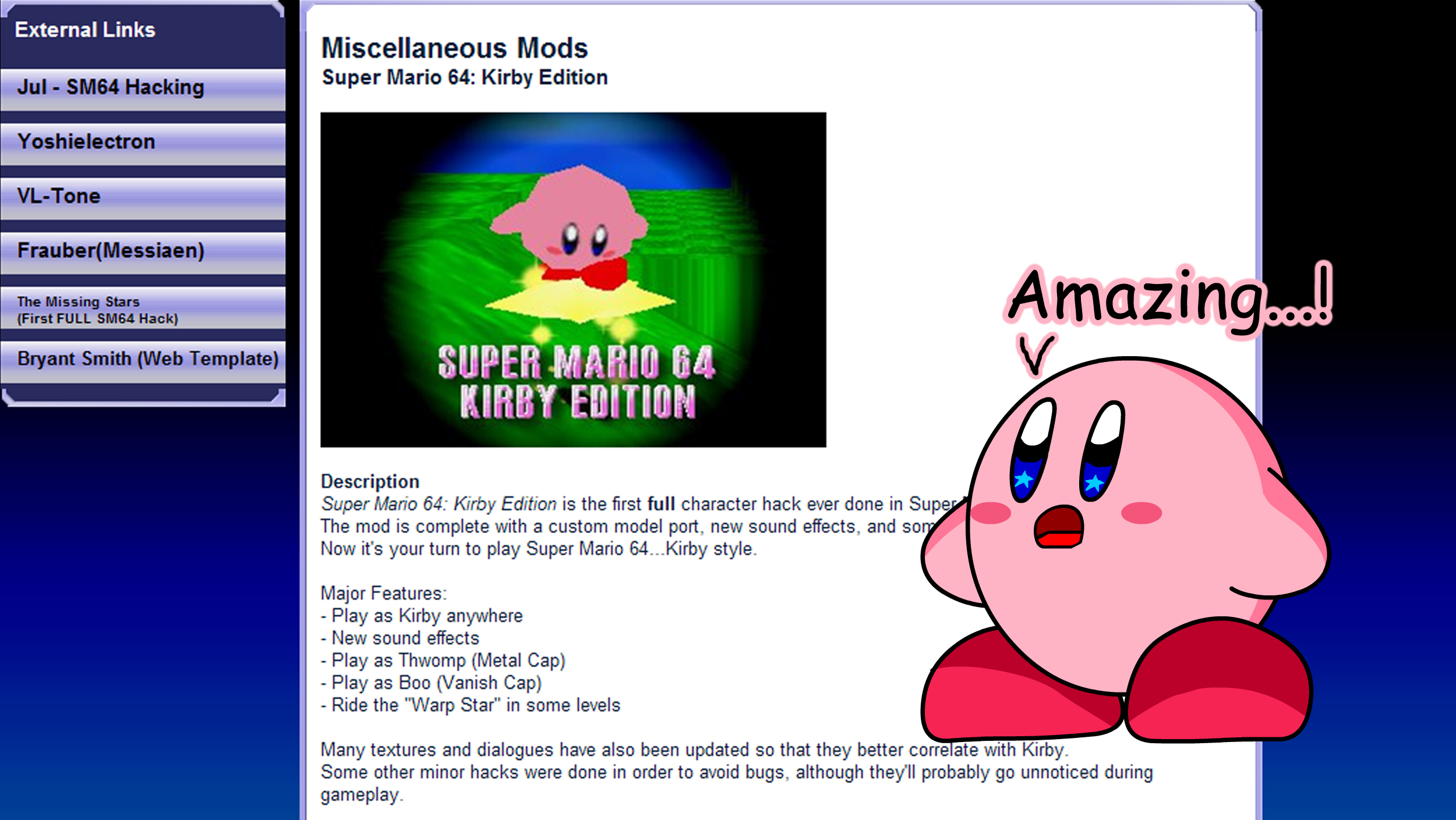 Kirby's Reaction of Super Mario 64 Kirby Edition by KingAsylus91