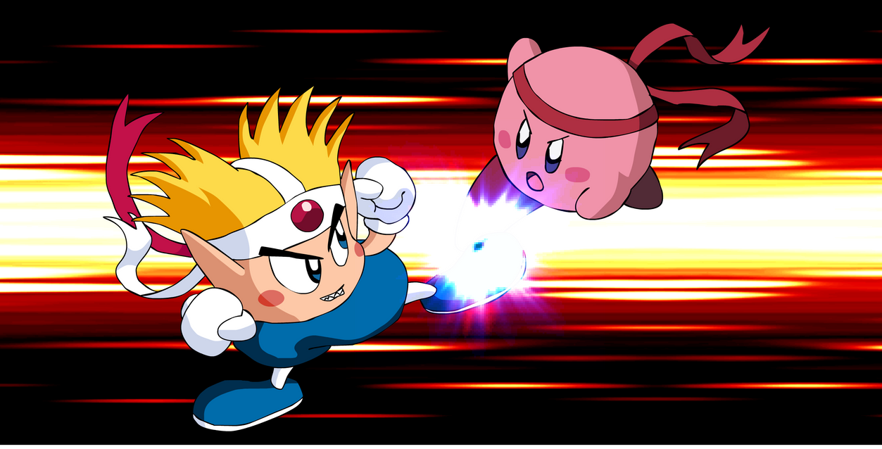 ART TRADE - Knuckle Joe vs. Kirby by KingAsylus91