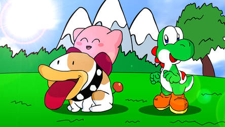 Kirby's Great Day on Yoshi Island by AsylusGoji91