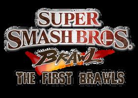 Super Smash Bros Brawl The First Brawls Logo by AsylusGoji91