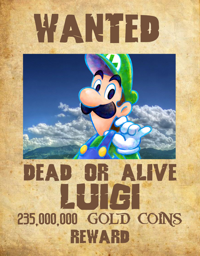 Wanted Poster 02 - Luigi by KingAsylus91
