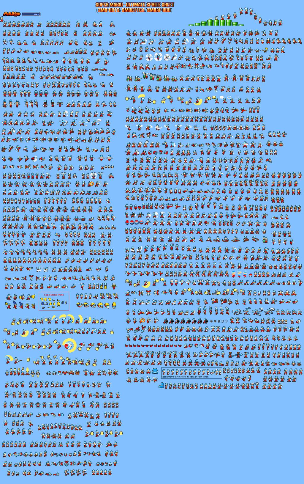 Ice Mario Sprite Sheet (SMBHotS) by KingAsylus91