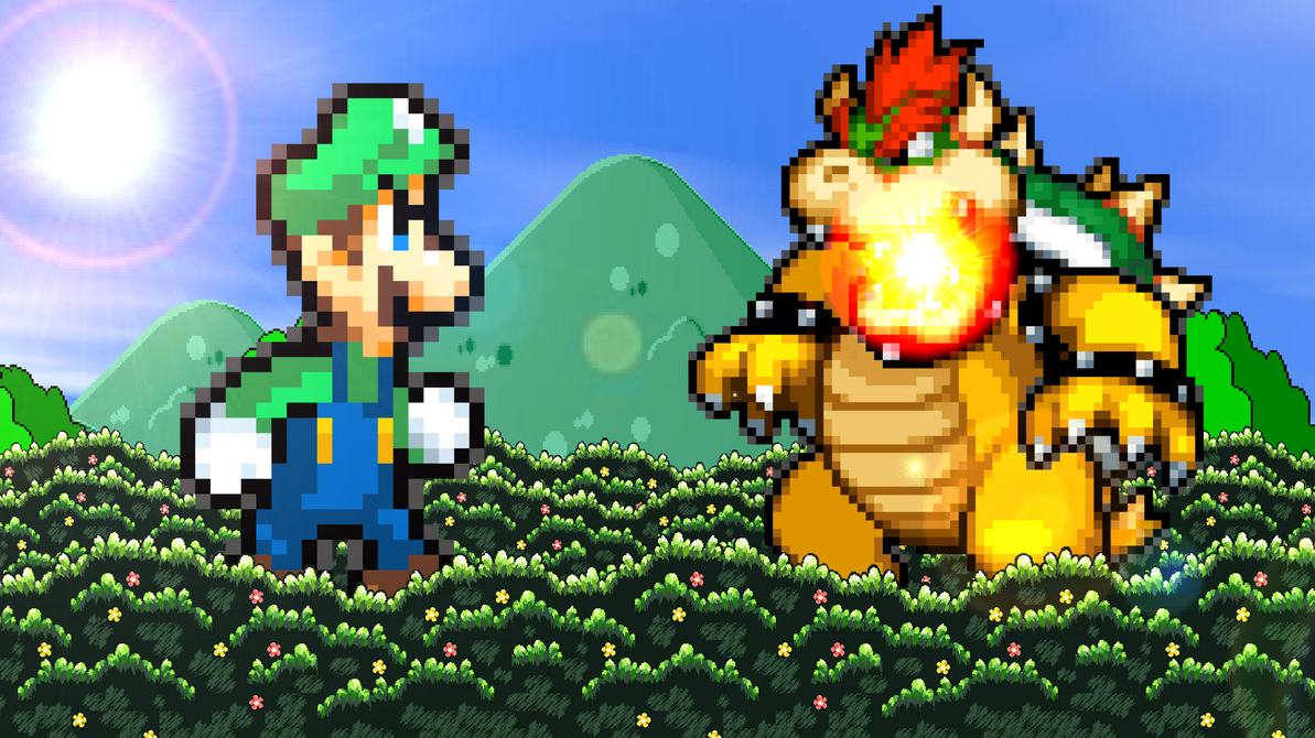 Giant Luigi vs. Giant Bowser by KingAsylus91