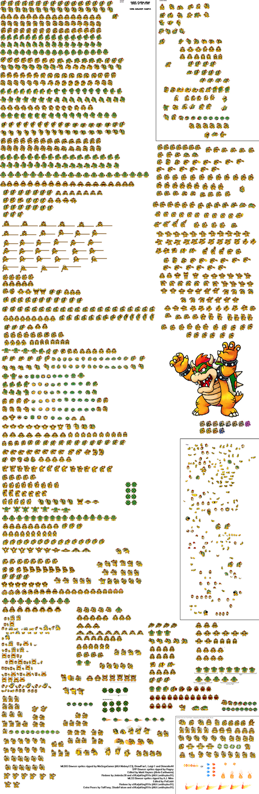 SMB-HotS Bowser Sprite Sheet by KingAsylus91