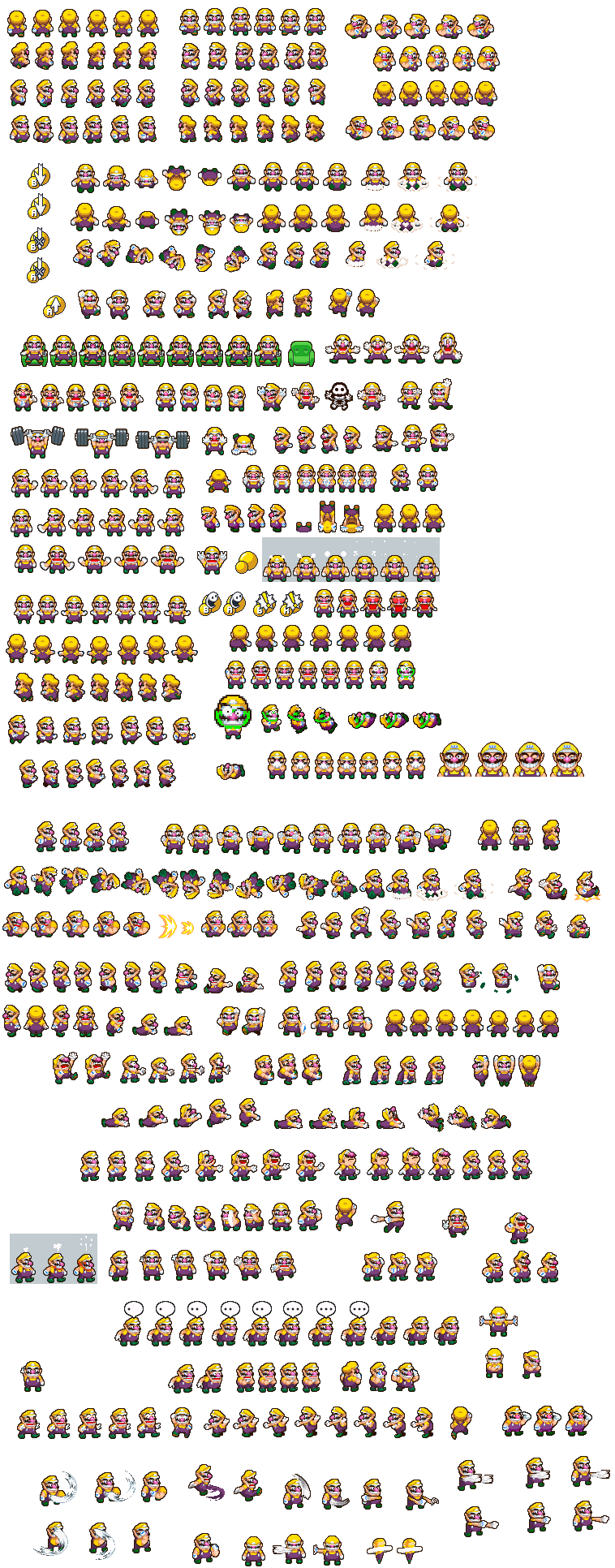 Wario And Waluigi Sprites Related Keywords & Suggestions