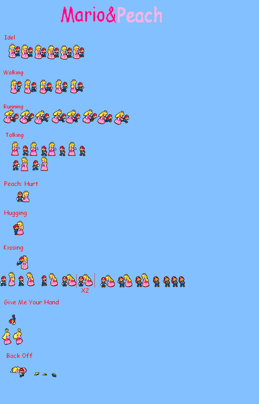 MarioXPeach Sprite Sheet by KingAsylus91