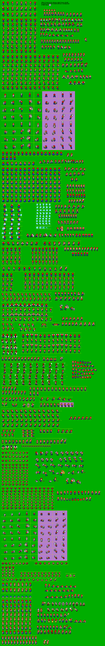 NSMBSS - Mario Sprite Sheet by KingAsylus91