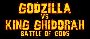 Godzilla vs King Ghidorah Battle of Gods Logo