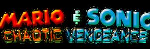 Mario and Sonic Chaotic Vengeance Logo by AsylusGoji91