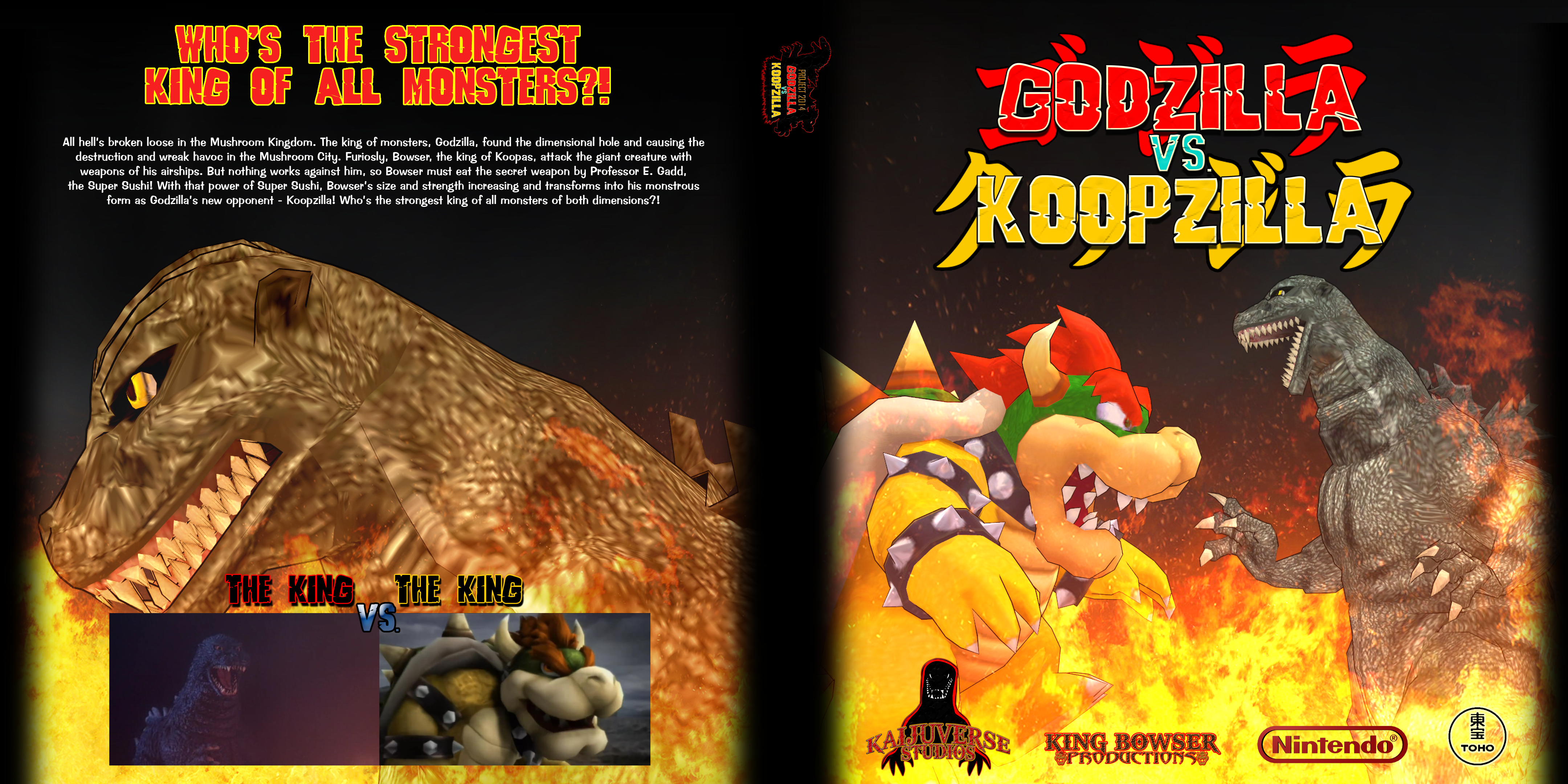 Godzilla vs. Koopzilla DVD Cover by KingAsylus91