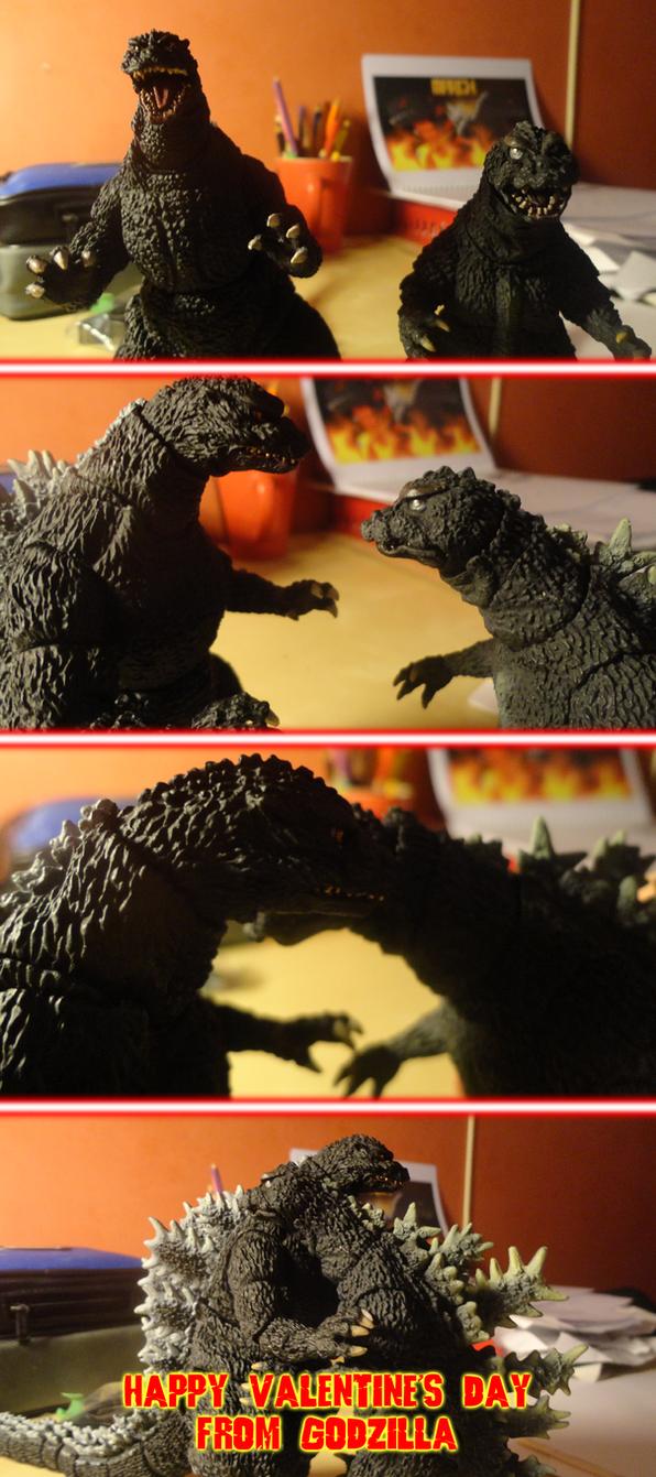 Happy Valentine's Day from Godzilla by KingAsylus91