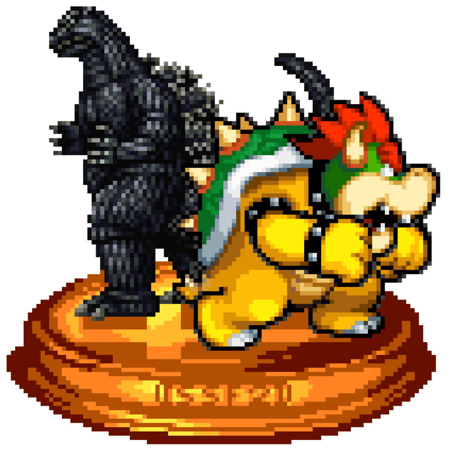 Godzilla vs. Koopzilla Trophy by KingAsylus91