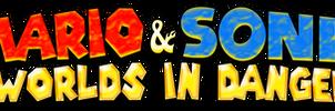 Mario and Sonic Worlds in Danger Logo (Revamped) by AsylusGoji91