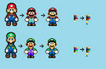 SMBHotS SMW Mario and Luigi sprites