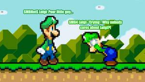 SMBHotS Luigi Meets SMG4 Luigi
