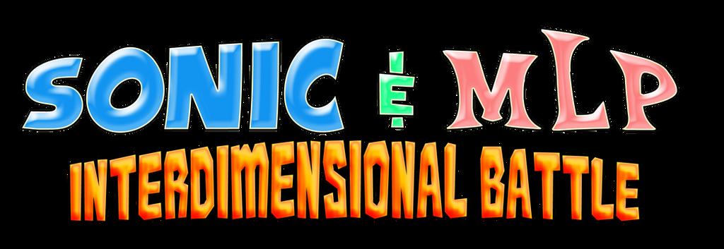 Sonic and MLP - Interdimensional Battle Logo by AsylusGoji91