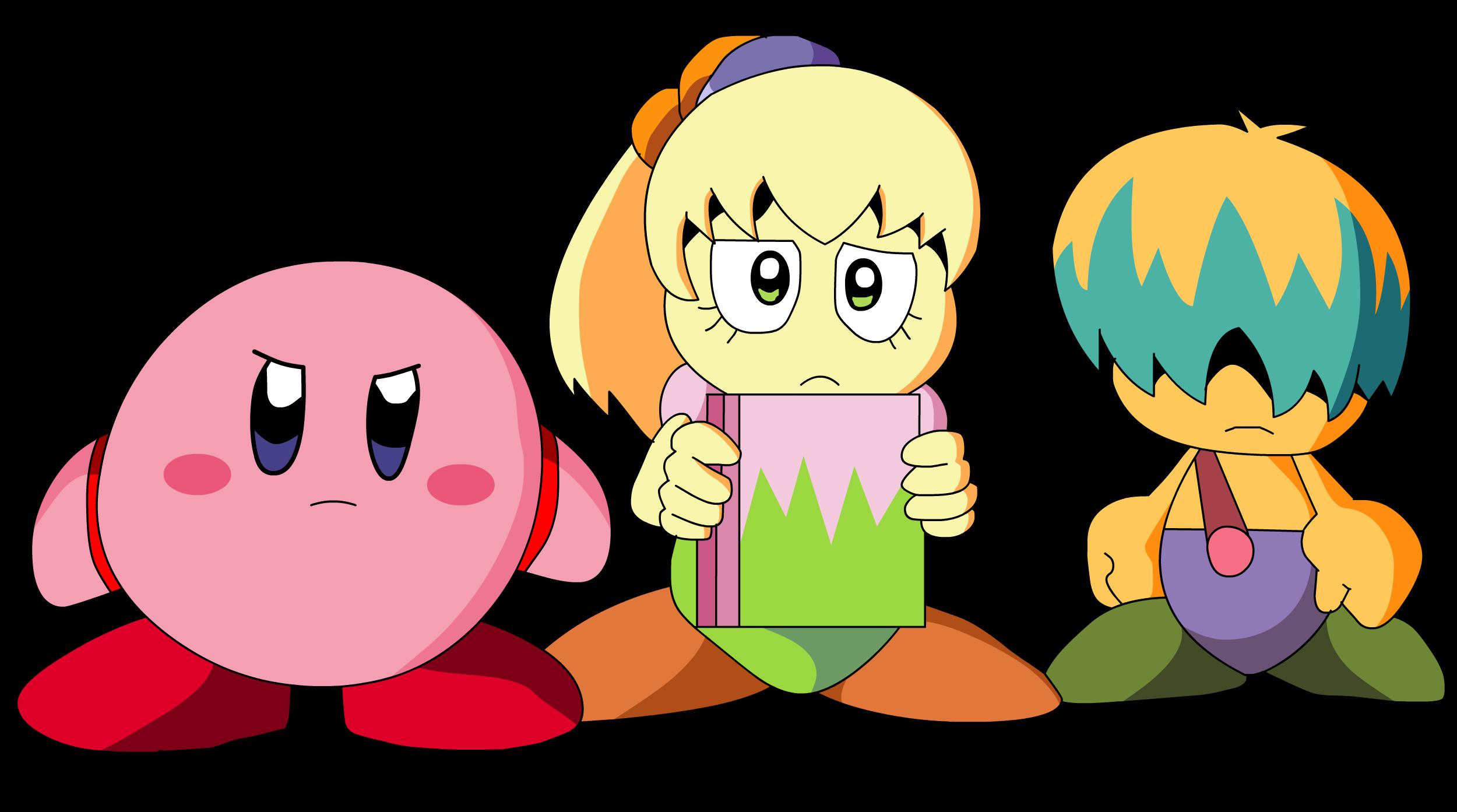 Kirby, Tiff and Tuff (Colored) by HeiseiGoji91 on DeviantArt