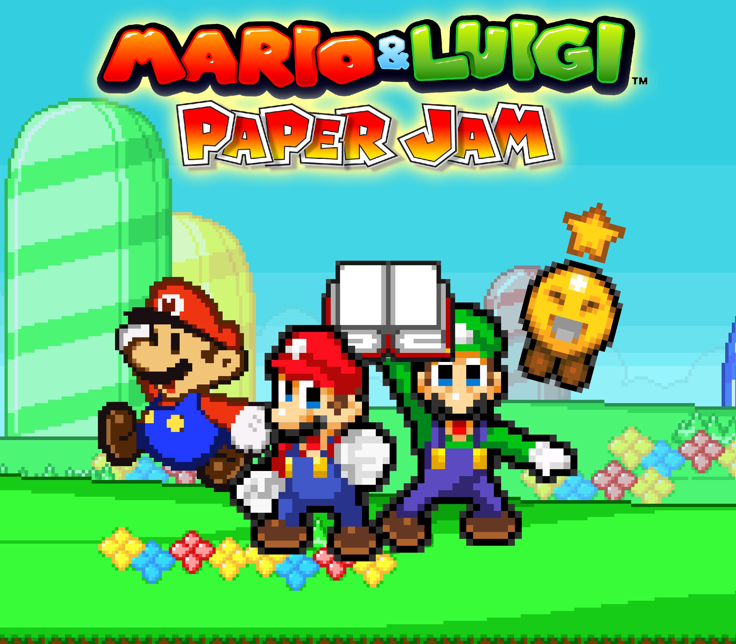 Mario And Luigi Paper Jam Poster My Version By Asylusgoji91 On