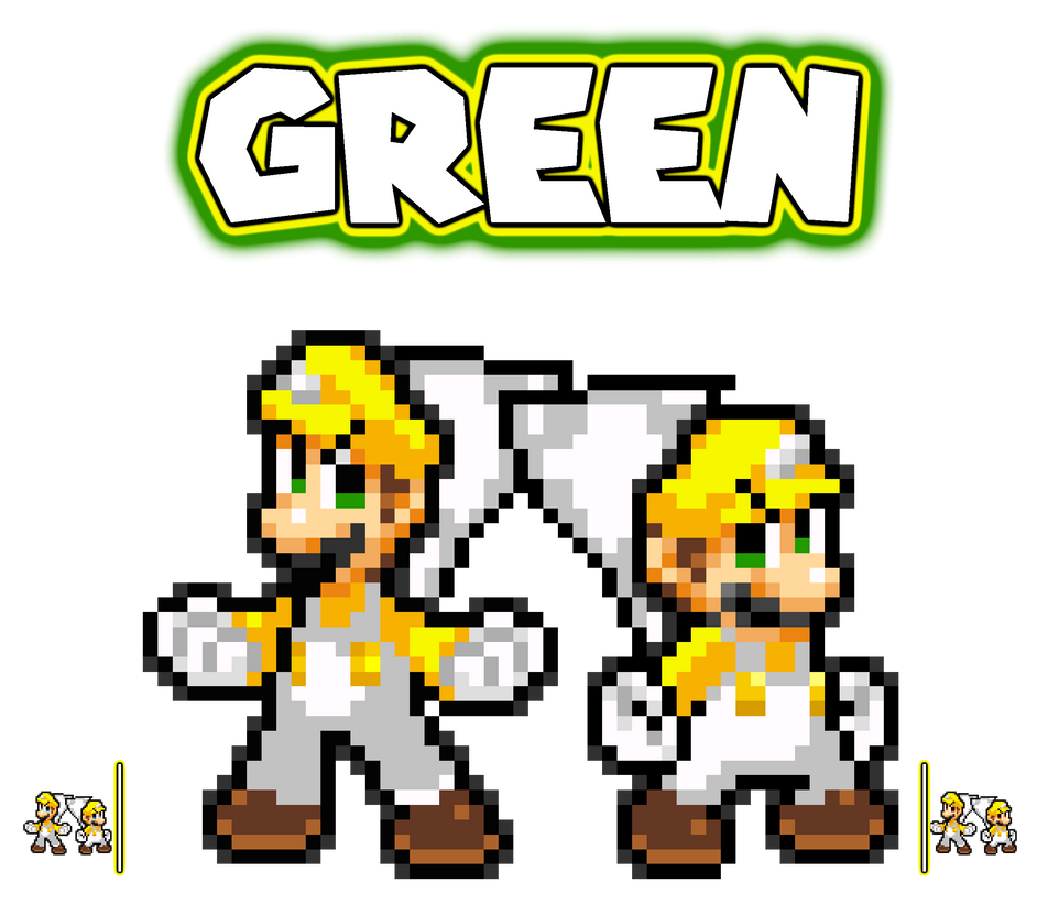 Super star mario bros eye colors green by heiseigoji91 for What color is mario